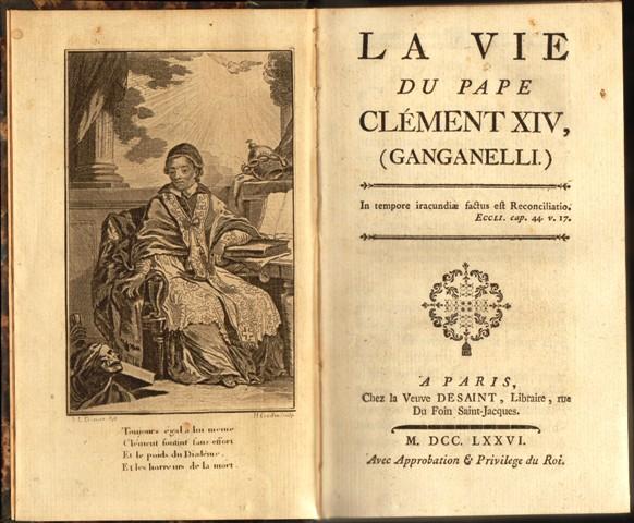 La vie du Pape Clement XIV, (Ganganelli.)