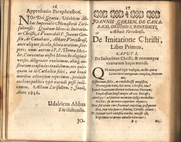 De Imitatione Christi Libri Quatuor. (Die Nachfolgung Christi).