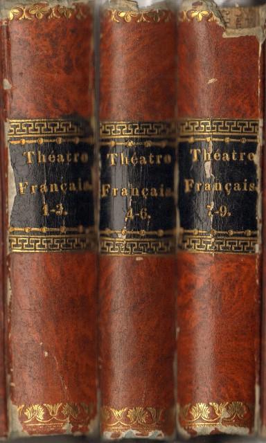 Le Theatre Francais, Bände 1 - 3, 4 - 6 und 7 - 9 (in 3 Bänden).