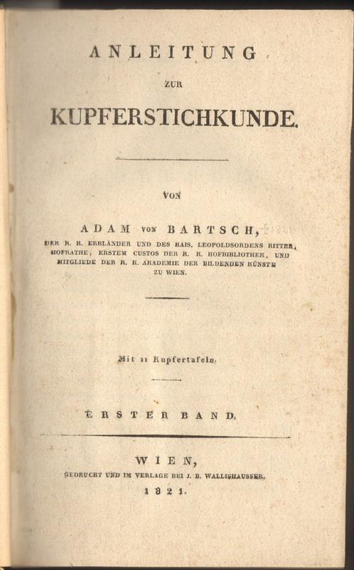 Anleitung zur Kupferstichkunde.
