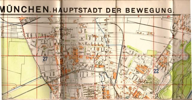 Brunns Plan von München. Hauptstadt der Bewegung. Blatt Pasing.