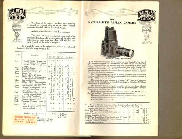 Dallmeyer, J.H. Ltd., Photographic, Cinematograph Lenses, Cameras & Apparatus. Umschlagtitel: Dallmeyer, Lenses and Apparatus.