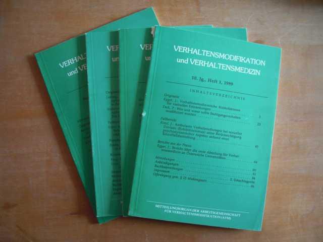 Verhaltensmodifikation und Verhaltensmedizin. Mitteilungsorgan der Arbeitsgemeinschaften für Verhaltensmodifikation (AVM) in Österreich und Deutschland. 10. Jahrgang, Hefte 1 bis 4