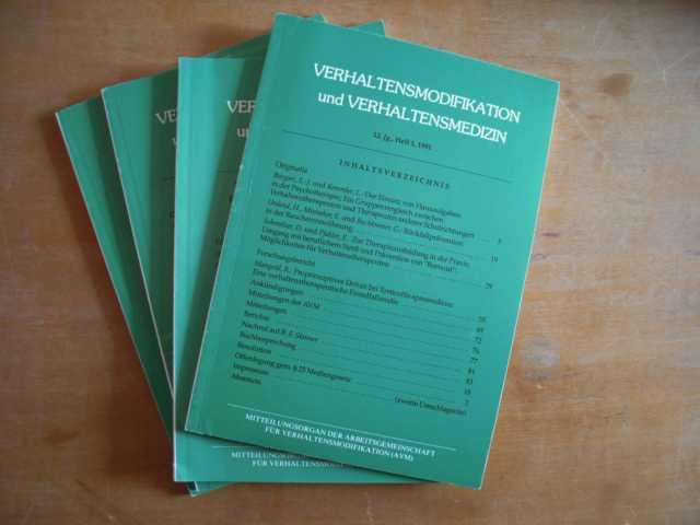 Verhaltensmodifikation und Verhaltensmedizin. Mitteilungsorgan der Arbeitsgemeinschaften für Verhaltensmodifikation (AVM) in Österreich und Deutschland. 12. Jahrgang, Hefte 1 bis 4