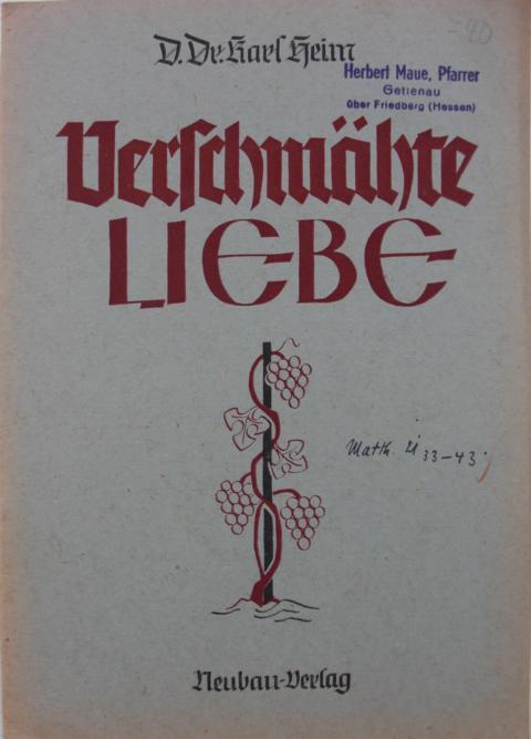 Verschmähte Liebe Auflage 10.000