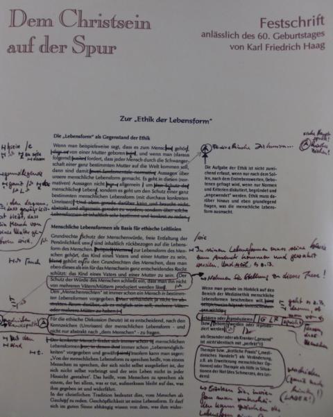 Dem Christsein auf der Spur : Festschrift anlässlich des 60. Geburtstages von Karl Frierich Haag, am 13 Juli 2002