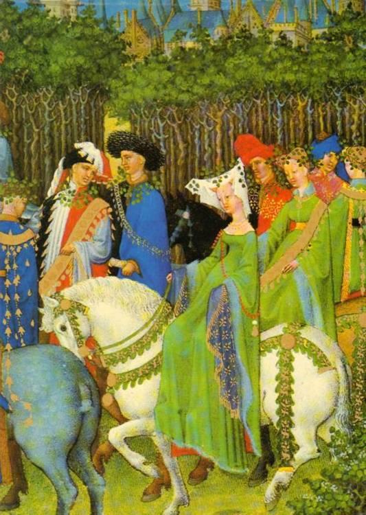 Die Tres Riches Heures des Jean Duc de Berry im Musee Conde Chantilly Lizenzausgabe