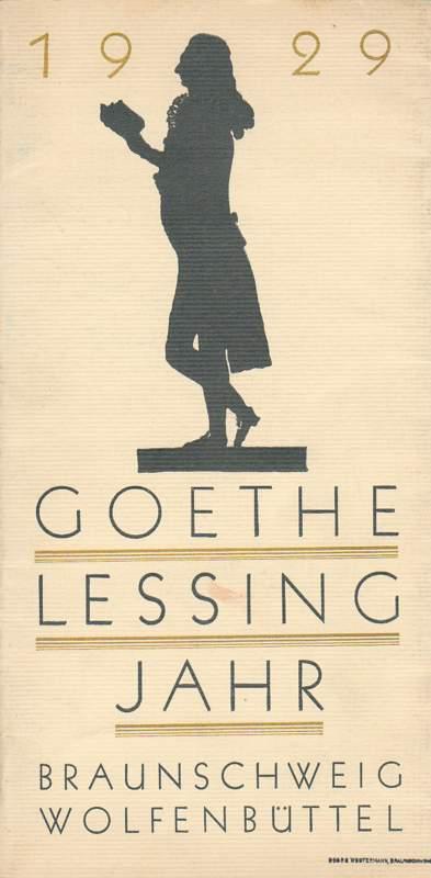Goethe-Lessing-Jahr 1929.