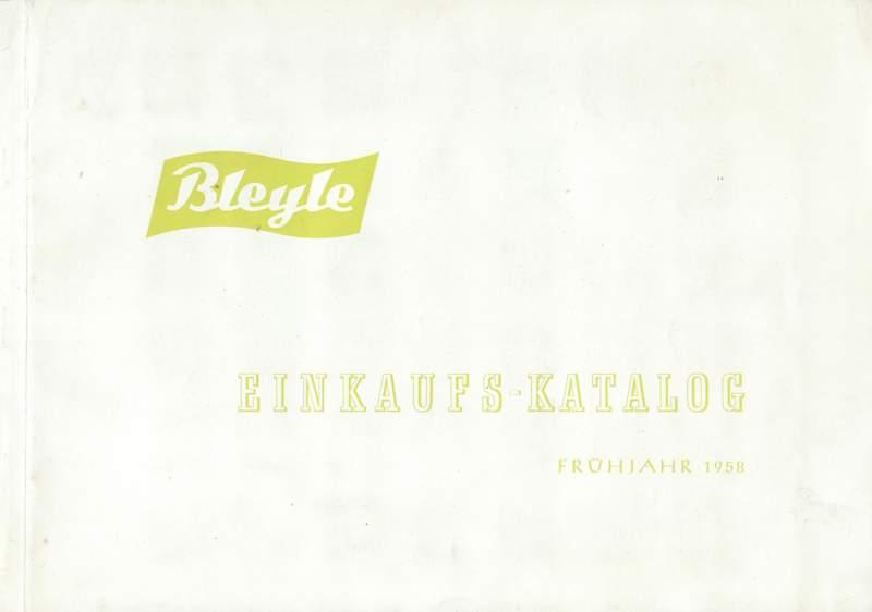 Bleyle Einkaufskatalog Frühjahr 1958.