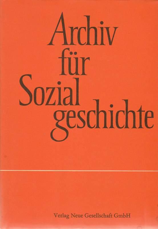Archiv für Sozialgeschichte. XVI
