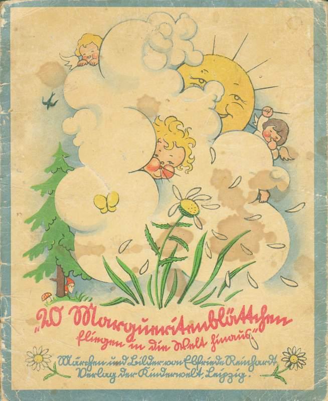 20 Margueritenblättchen fliegen in die Welt hinaus.
