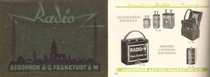 Rundfunk-Jahrbuch der Aerophon-A. G.