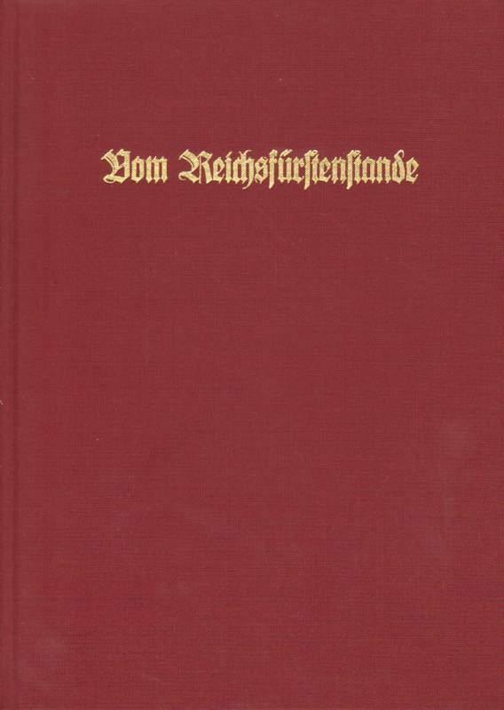 Heinemeyer, Walter (Hrsg.): Vom Reichsfürstenstande - signiert.
