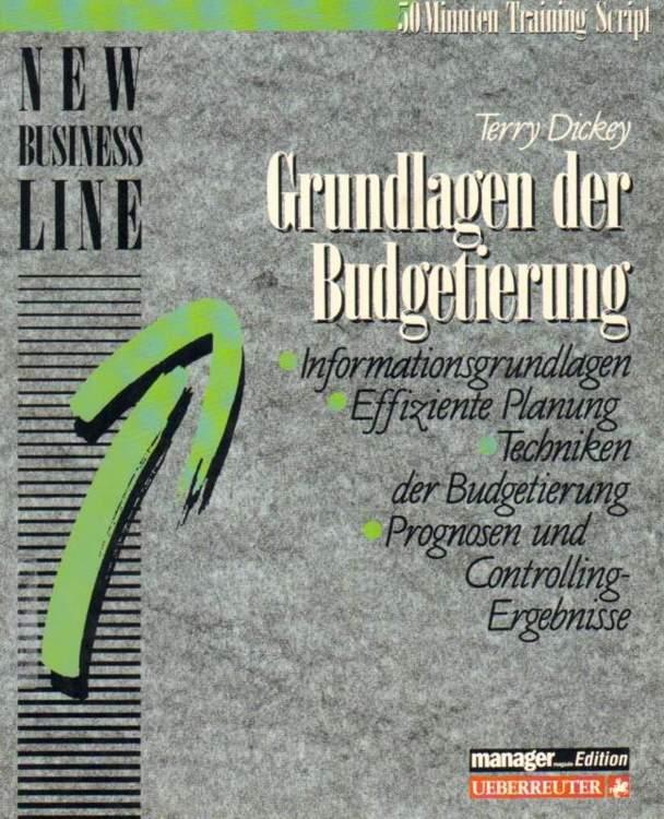 Grundlagen der Budgetierung.