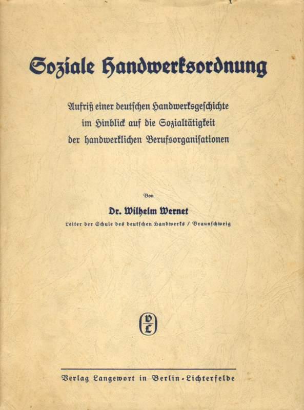 Soziale Handwerksordnung.