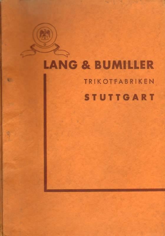 Lang & Bumiller Trikotfabriken Stuttgart. Preisliste Nr. 49.