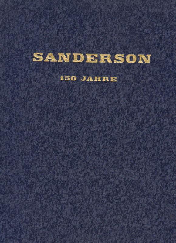 W. Sanderson & Sons - Messina . 150 jähriges Bestehen 1817 - 1967