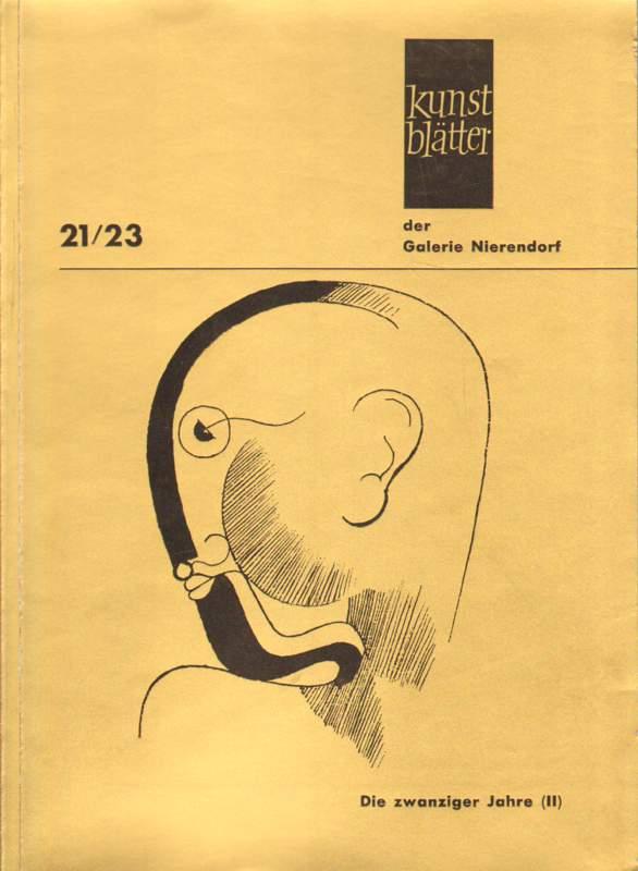 Die Zwanziger Jahre. Gemälde, Plastiken, Zeichnungen, Druckgraphiken.