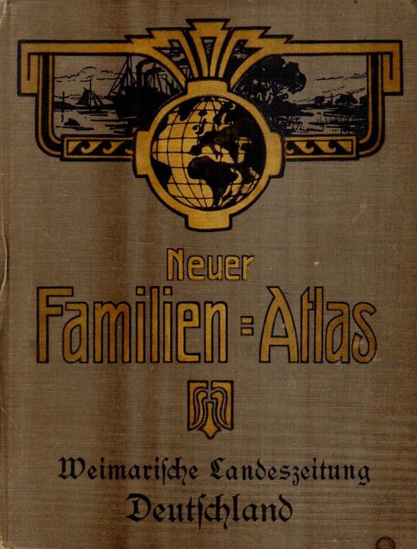 Neuer Familien-Atlas. Weihnachtliche Landeszeitung Deutschland.
