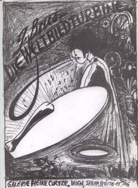 Die Weltbildturbine . Zeichnungen und Bild-Dichtungen 1996.