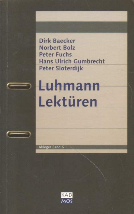 Luhmann Lektüren.