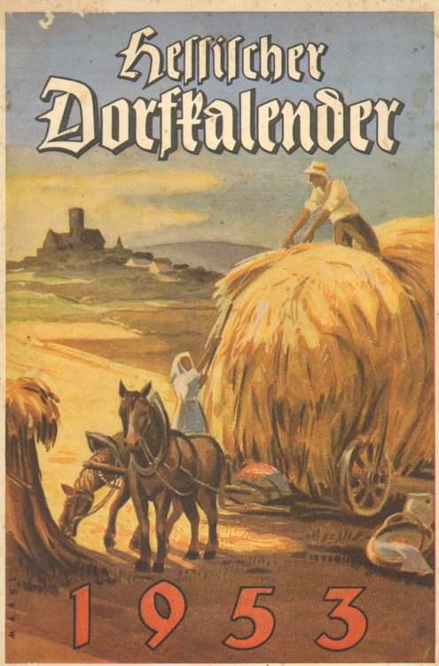 Hessischer Dorfkalender 1953.