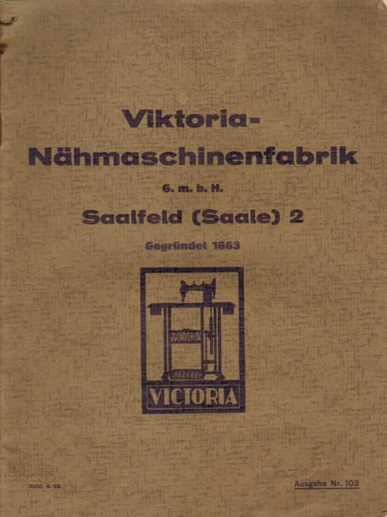 Viktoria-Nähmaschinenfabrik G.m. b. H. Saalfeld (Saale) 2.
