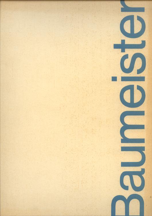 Willi Baumeister Malerei und Graphik der 20er Jahre.