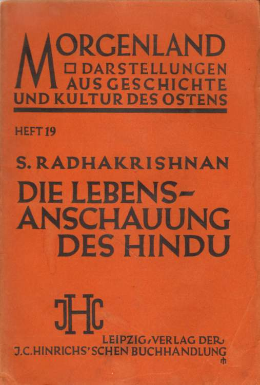 Die Lebensanschauung des Hindu.
