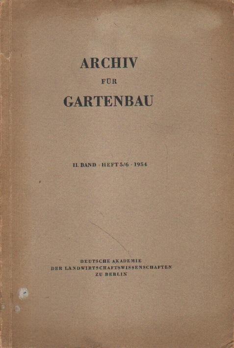 Archiv für Gartenbau.