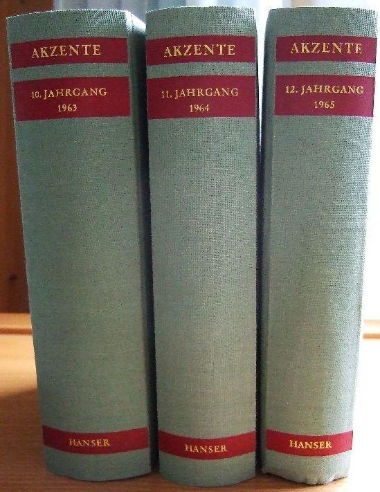 Zeitschrift für Dichtung. Herausgegeben von Walter Höllerer, Hans Bender und Michael Krüger.