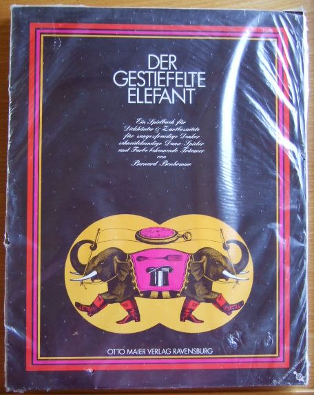 Der gestiefelte Elefant / Zwischen den Seiten versteckt sich Gezwitscher / Das überkluge Kugeldüdelü / Spiel doch mal mit Mona Lisa. Konvolut von 4 Spielbüchern