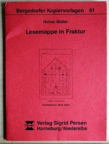 Müller, Heiner: Lesemappe in Fraktur