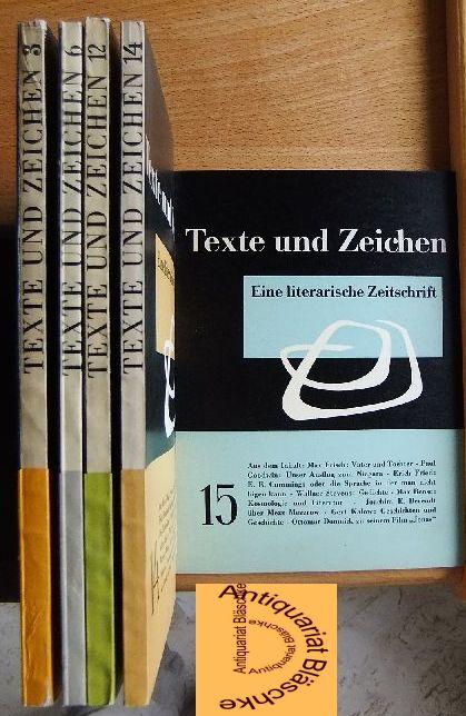 Texte und Zeichen. Eine literarische Zeitschrift. 1. Jahr: Heft 3; 2. Jahr: Heft 2; 3. Jahr: Heft 2, 4 u. 5;