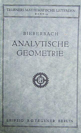 Analytische Geometrie. Teubners mathematische Leitfäden ; Bd. 29 Erstausg.