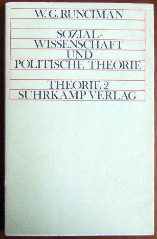 Sozialwissenschaft und Politische Theorie. Theorie 2. Theorie 2. Hg. von Hans Blumenberg, Jürgen Habermas, Dieter Heinrich und Jacob Taubes. 1.-4. Tsd.