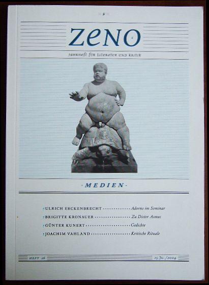 """Zeno: Jahrheft für Literatur und Kritik , Heft 26 """"Medien"""". 25. Jahrg."""