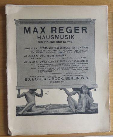 Reger, Max: Sechs Vortragsstücke (Suite A-moll) für Violine und Klavier op.103a Verlagsnummer 17096