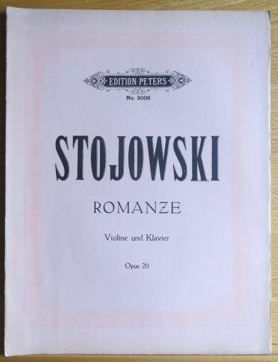 Stojowski, Sig.: Romanze f. Violine m. Begl... d. Pianoforte. Opus 20. [Partitur]. (VN 8754)