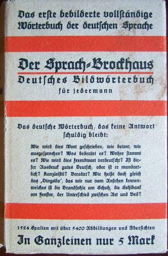 Der Sprach-Brockhaus : Deutsches Bildwörterbuch f. jedermann