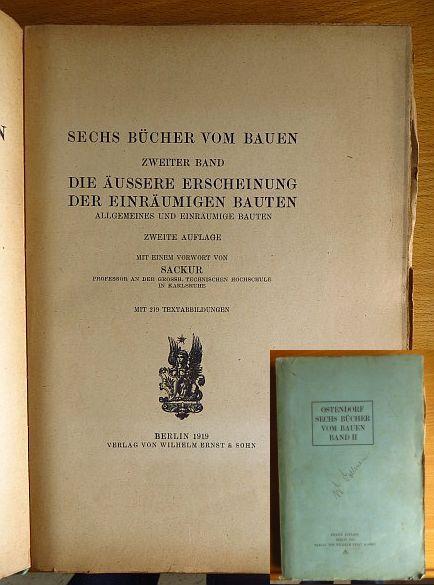 Sechs Bücher vom Bauen. Allgemeines u. einräumige Bauten. 2. Aufl., Bd. 2: Die äussere Erscheinung der einräumigen Bauten.