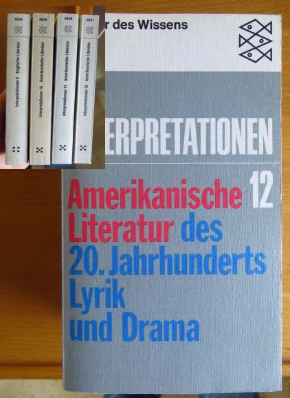 Amerikanische Literatur des 20. [zwanzigsten] Jahrhunderts. - [Mehrteiliges Werk]; Teil: Bd. 1 und Band 2 Reihe Interpretationen: Bände 11 und 12