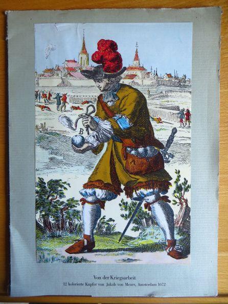 Von der Kriegsarbeit oder des neuen Festungsbaues 12 kolorierte Kupfer von Jakob von Meurs, Amsterdam 1672; - Theil 3: Von der neuen weise Aufzuziehen ...