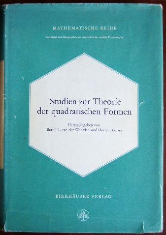 Studien zur Theorie der quadratischen Formen. (Mathematische Reihe ; 34)