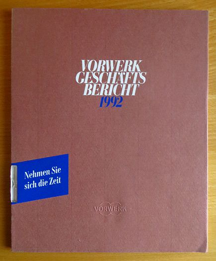 Der Vorwerk Geschäftsbericht 1992 : Bericht über das 109. Geschäftsjahr.