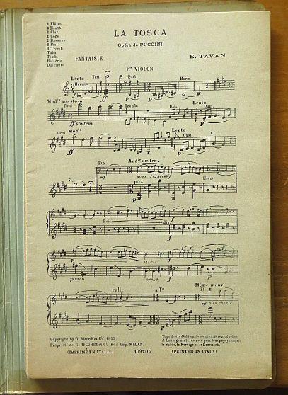 Tavan, E. und Giacomo Puccini: La Tosca. Fantasie. Opéra de G. Puccini 109205