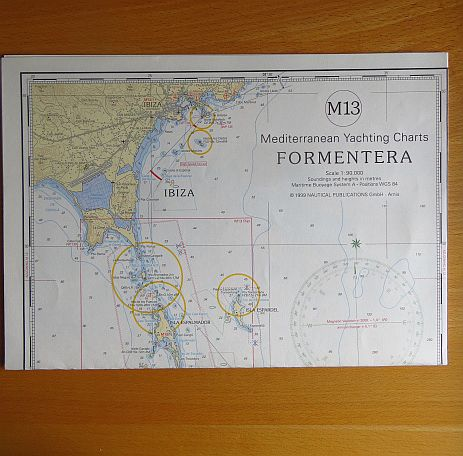 Mediterranean yachting charts; M 13., Formentera; Scale 1:90000 1999, Corr.: September 2002