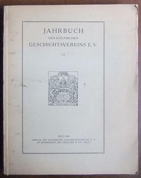 Jahrbuch des Kölnischen Geschichtsvereins E.V. 11