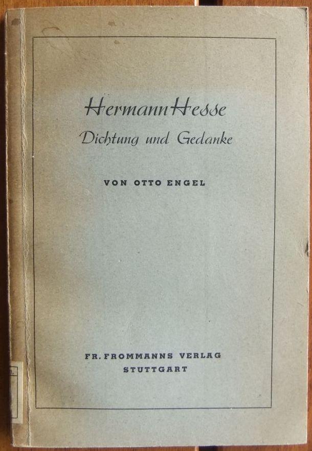 Hermann Hesse. : Dichtung und Gedanke. 1.-5. Tsd.