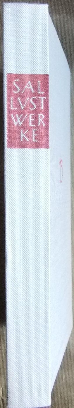 Sallustius Crispus, Gaius (Verfasser), Wilhelm (Mitwirkender) Schöne und Werner (Mitwirkender) Eisenhut: Werke und Schriften : Lateinisch-deutsch. Sallust. [Hrsg. u. übers. von Wilhelm Schöne unter Mitw. von Werner Eisenhut] / Tusculum-Bücherei 3. Aufl.